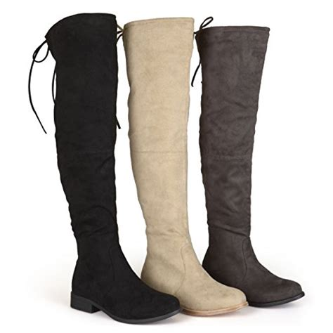 wide calf the knee flat boots brinley co womens wide calf faux suede the knee