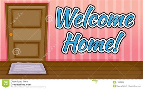 text room welcome home stock vector image 47067664