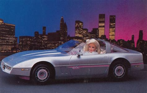 barbie corvette silver 80s barbie car down memory lane pinterest