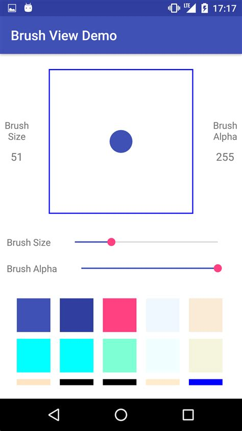 layout android alpha android开源 brushview 简单视图更改画笔大小 alpha和颜色 open 开发经验库