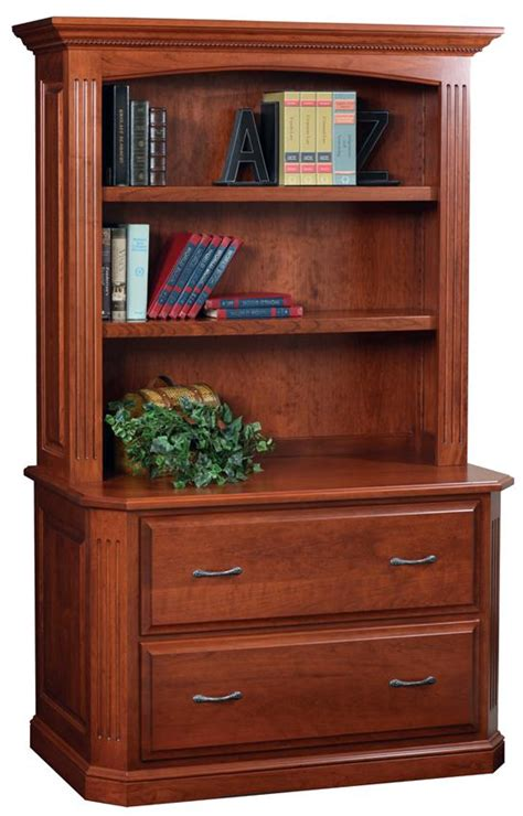 buckingham lateral filing cabinet with optional bookshelf from