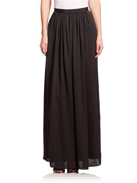 needle thread black pandora pleated maxi skirt lyst