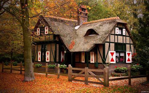 photo autumn cottage season orange