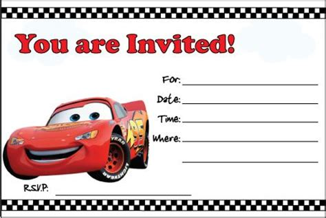 printable disney cars birthday invitations 7 best images of free printable cars invitations birthday cars birthday invitations template
