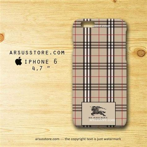 Burberry Pattern A1392 Iphone 6 6s 3d wrap around design made from durable plastic high resolution printing processed handmade