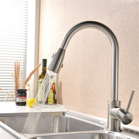brushed nickel faucet with stainless steel sink satin nickel faucet with stainless steel sink