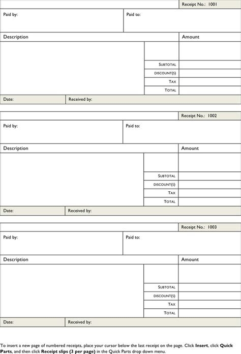 general receipt template download free premium