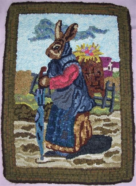 bunny rugs hooked bunny rug by jasannas1 on etsy rug hooking bunnies rugs and