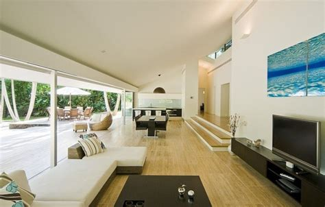 interior for home stunning house with pool and view