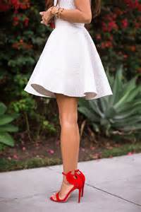 white dress and red heels pictures photos and