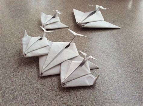 Spaceship Origami - origami paper jet spaceship looks great on display