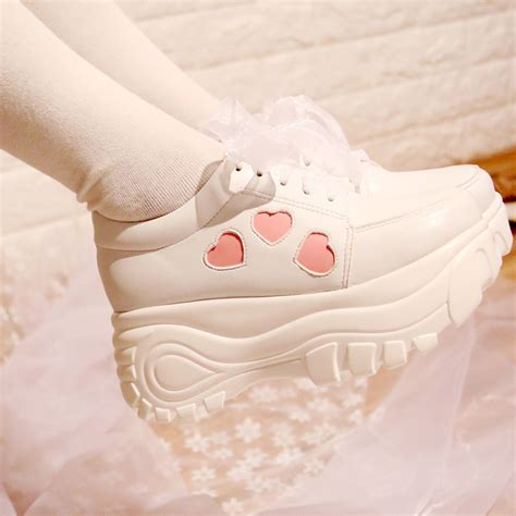 japanese kawaii lace platform shoes 183 fashion kawaii