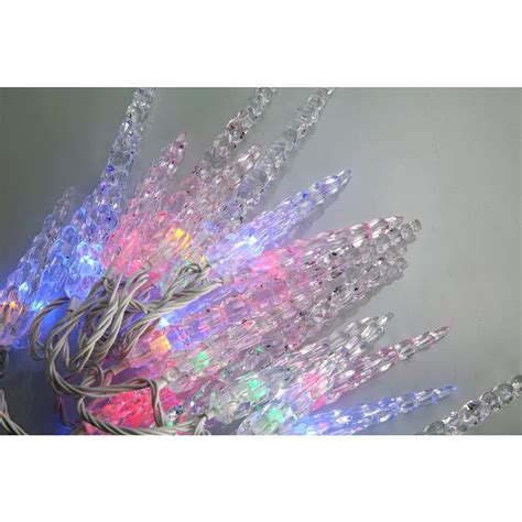 multi color icicle led lights novolink bundle 80 light multi color icicle led light