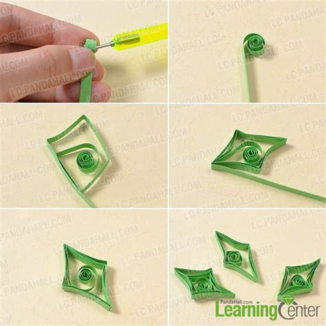 Steps To Make Paper Quilling - free tutorial on how to make paper quilling bell