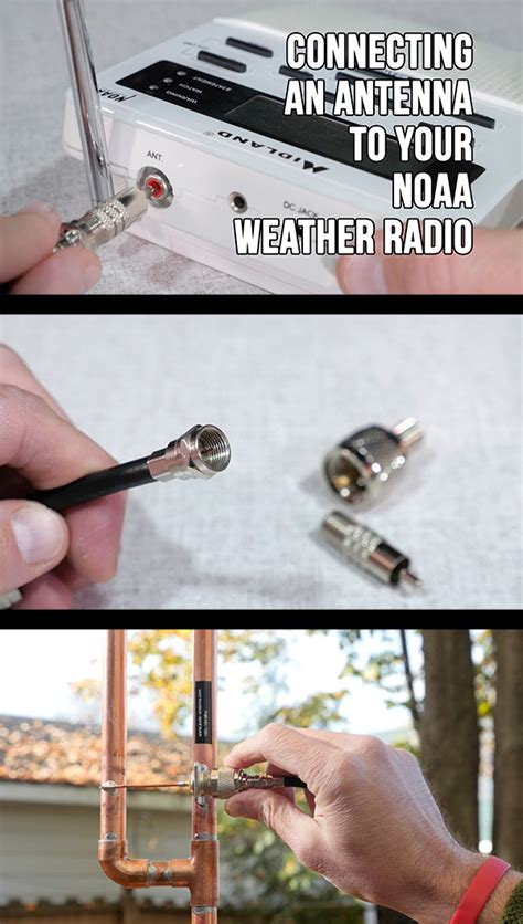 connecting an antenna to your noaa weather band radio kb9vbr j pole antennas