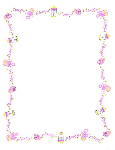 free printable digital scrapbook 4th of july s - Baby Shower Borders Clip