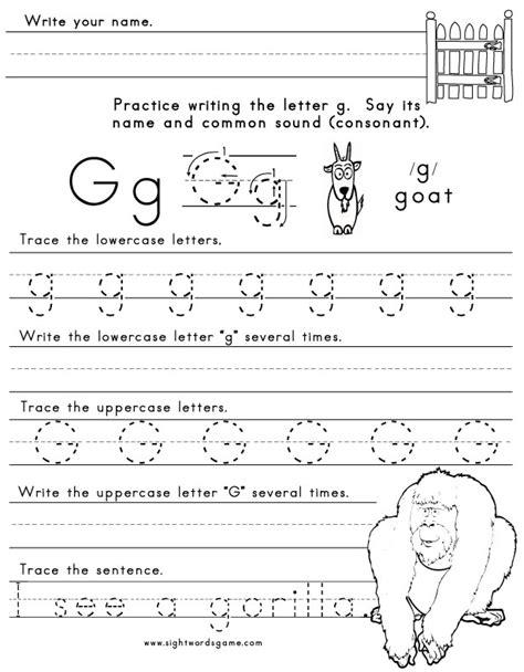 worksheets for preschool letter g letter g worksheet 1 letters of the alphabet pinterest