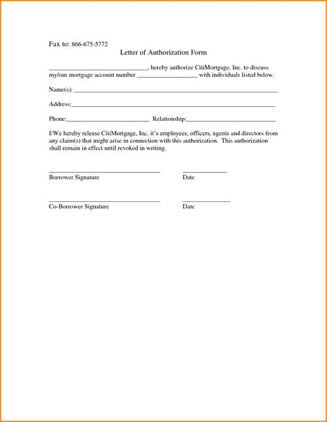 authorization letter in letter of authorization form authorization letter pdf
