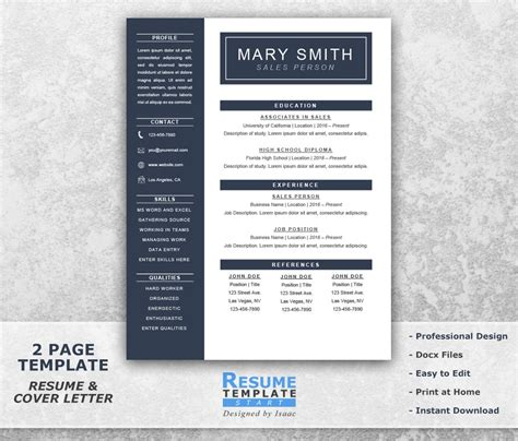 1 page cv template word one page resume template word resume cover letter templates