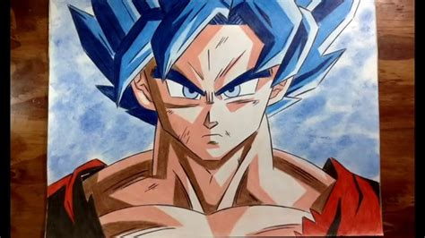 imagenes de goku modo dios c 243 mo colorear a goku modo dios azul how to draw goku god