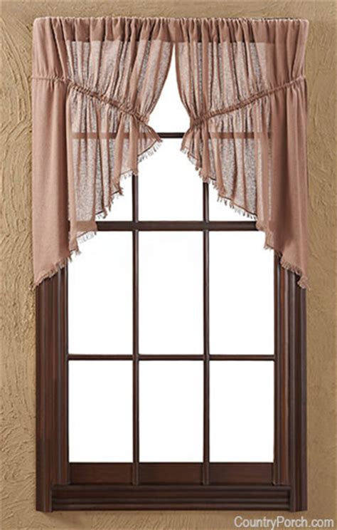 tobacco cloth curtains nutmeg tobacco cloth window curtain prairie swag