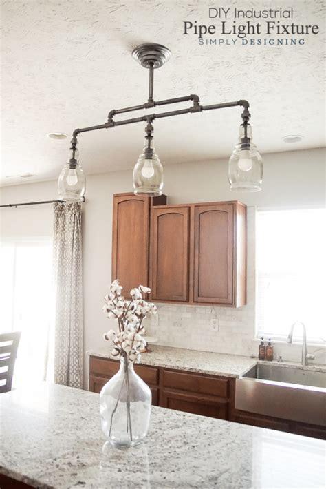Diy Pipe Light Fixture Diy Industrial Pipe Light Fixture