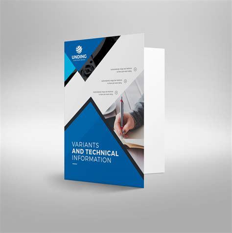 Classy Modern Corporate Presentation Folder Template 001226 Template Catalog File Folder Design Template