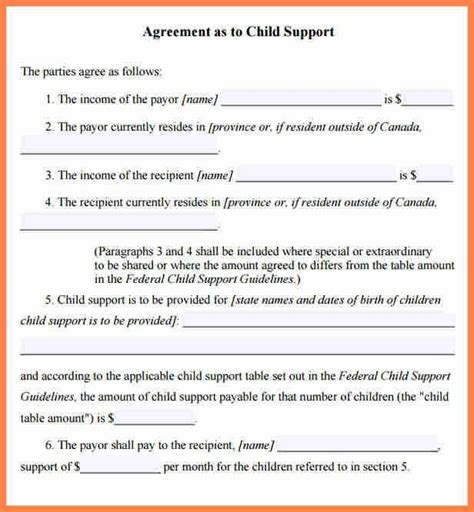 what is a section 52 agreement sle child support agreement letter template child