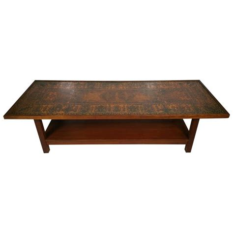 Copper Top Tables by Rosewood Coffee Table With Textured Copper Top At