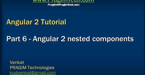 javascript tutorial venkat sql server net and c video tutorial angular 2 nested
