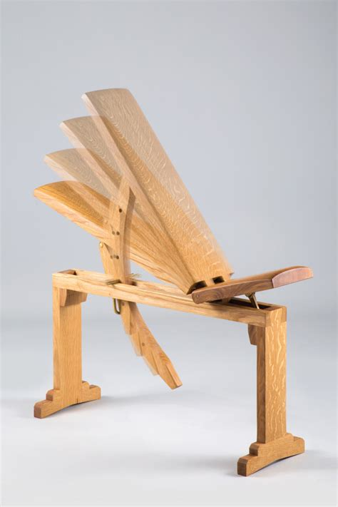 wooden exercise bench a former boatbuilder dives into furniture design design milk