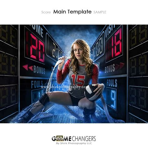 Score Photoshop Templates Game Changers By Shirk Photography Llc Photoshop Sports Templates