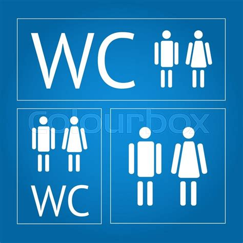 Signs Of A Closeted by Water Closet Signs Icon Set Stock Vector Colourbox