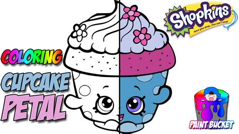 shopkins coloring page cupcake petal shopkins coloring