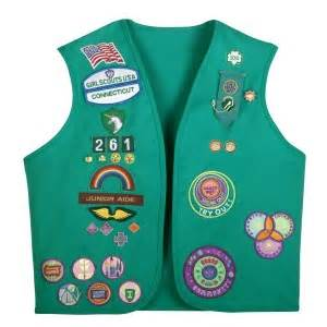 junior sash and vest ann brackett donates her vintage girl scout uniform to the