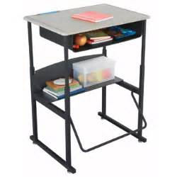 stand up classroom student desk adjustable height laptop