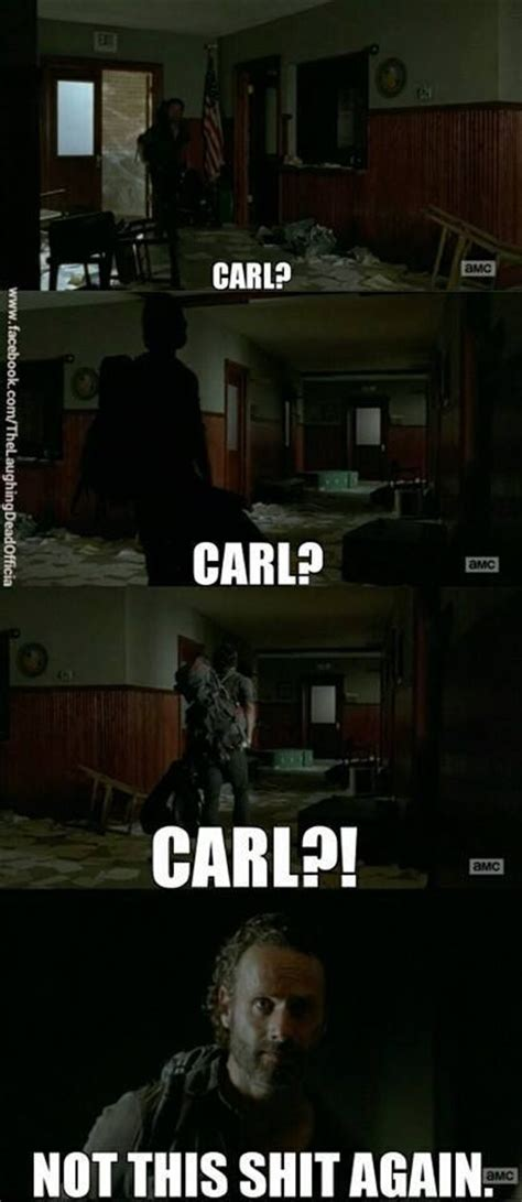 The Walking Dead Carl Meme - carl twd quotes quotesgram