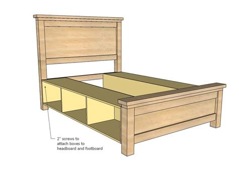 king size bed frame  drawers plans woodworking