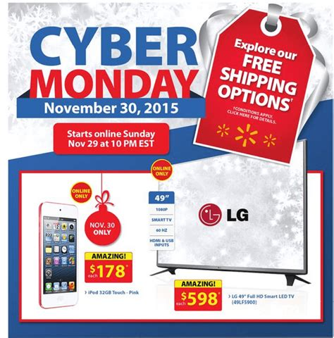 Walmart Canada Cyber Monday 2015 Flyer Deals   Canadian Freebies, Coupons, Deals, Bargains