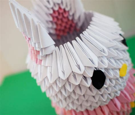 Origami 3d Rabbit - 3d origami bunny by gracy2227 on deviantart