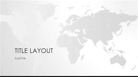 Free World Map Black White Template For Powerpoint Online Free Powerpoint Templates World Map Powerpoint Template