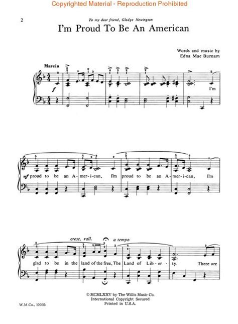 An American Song I M Proud To Be An American Sheet By Edna Mae Burnam Sheet Plus
