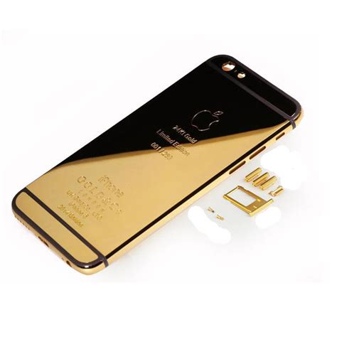 Gold 24k Iphone 4 4g 4s Tempered Glass Screenguard Anti Gores iphone 6s back housing 24k gold plated royalty parts