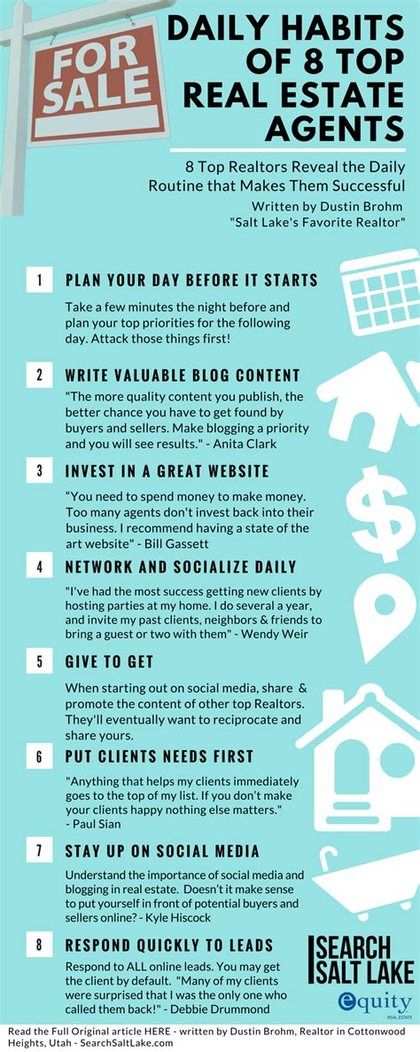 daily habits of 8 top real estate agents
