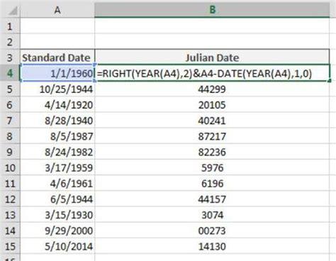 Julian Calendar Converter Comment Convertir Des Dates Aux Formats Julian Dans Excel