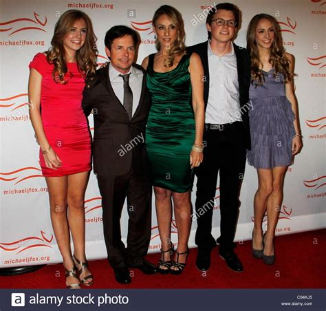 michael j fox family michael j fox tracy pollan family at arrivals for a