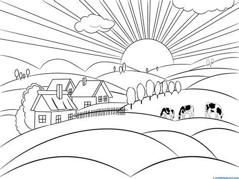 pueblo de casitas mandalas infantiles para colorear para material imprimible para ni 241 os paisajes para pintar