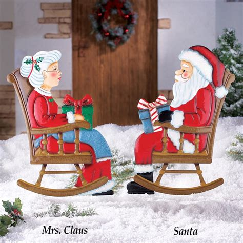 mr mrs claus rocking chair santa christmas holiday