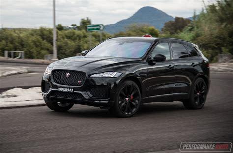 jaguar f pace blacked out 2016 jaguar f pace s 35t review video performancedrive
