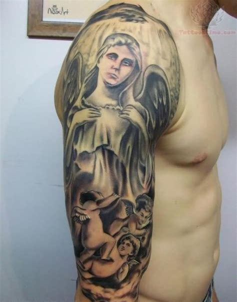angel half sleeve tattoo 26 sleeve tattoos ideas